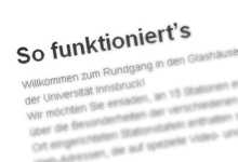 So funktioniert's